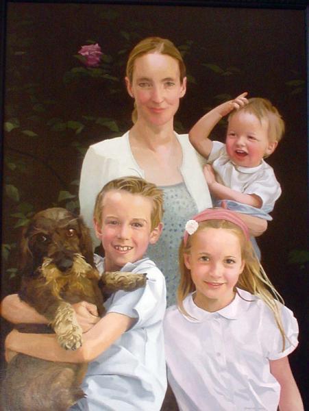 portrait de famille peinture